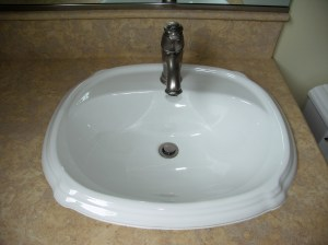Undermount versus overmount bathroom remodel blog for How much to install a bathroom vanity and sink